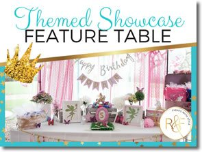 themed showcase feature table