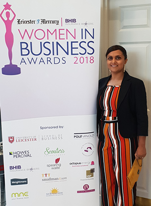 Leicester Mercury Awards – Leicestershire Business Woman of the Year Awards 2018
